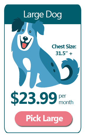 Large Dog - $23.99 a month