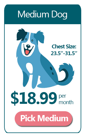Medium Dog - $18.99 a month