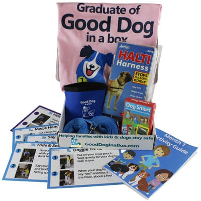 Good Dog in a Box Lite Family Dog Training Subscription Box