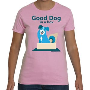 Good Dog in a Box Woman's Pink T-Shirt