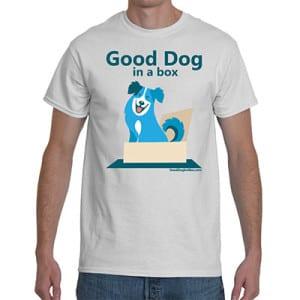 Good Dog in a Box White Man's T-Shirt