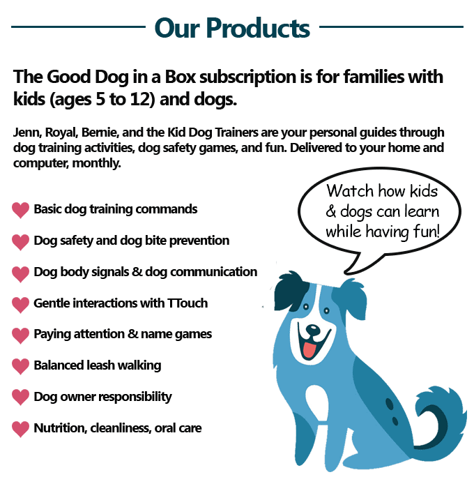 Good Dog in a Box Subscription Dog Training for Families