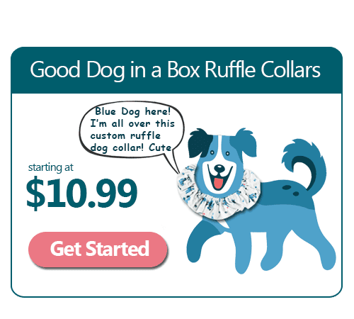 Good Dog Handmade Ruffle Dog Collar