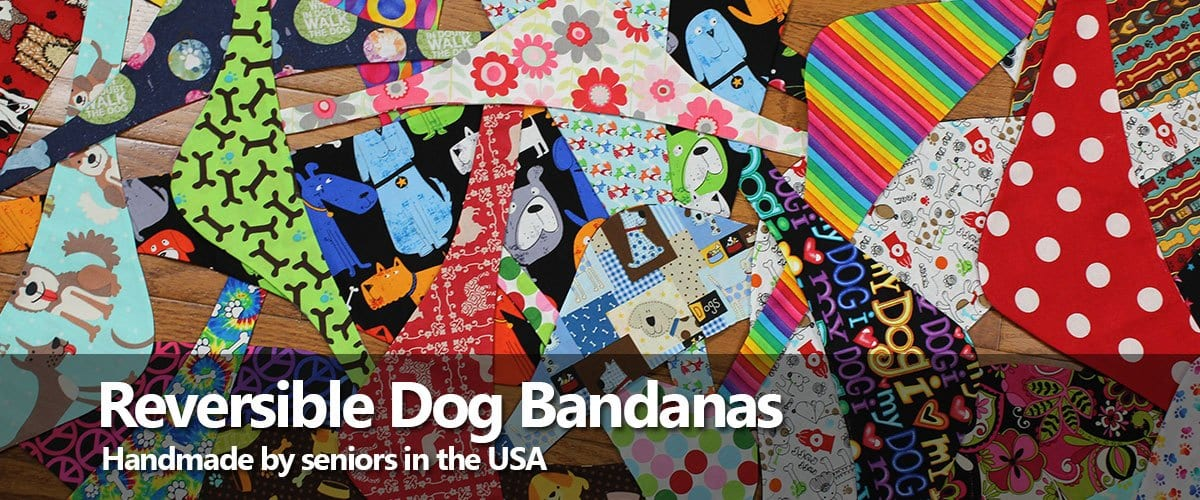 Handmade reversible dog bandanas