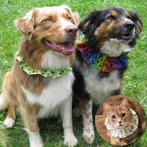 Handmade Reversible Ruffle Pet Collars