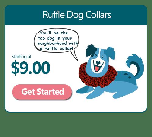 Ruffle Dog Collars