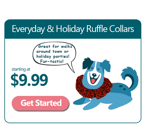 Handmade Ruffle Dog Collar