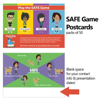 SAFE Dog Bite Prevention Game Postcards
