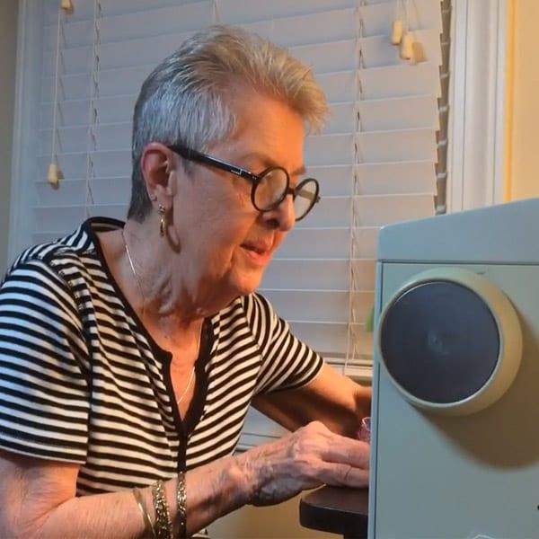 Sue Merritt Sewing Dog Bandanas
