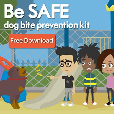 Download your free SAFE Dog Bite Prevention Kit for kids.