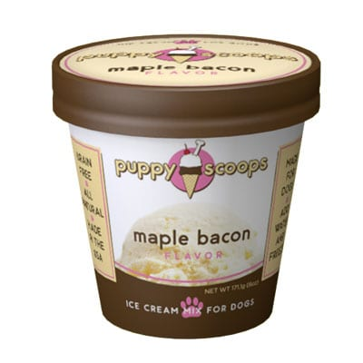 Maple Bacon Ice Cream for Dogs