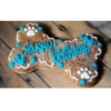 Decorated bone shaped cookie