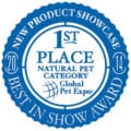 1st Place Honor at Natural Pet Category at Global Pet Expo