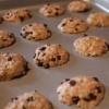 Carob chip dog cookies baking