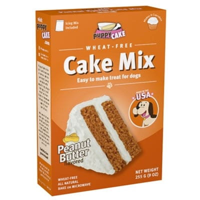 Peanut Butter Cake Mix for Dogs from Puppy Cake