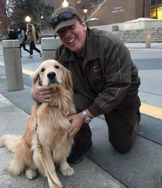 UPS Dogs Bailey Paws Program