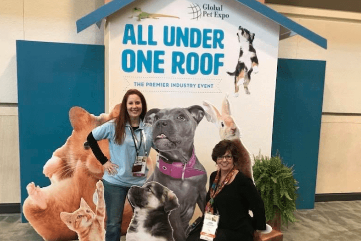 Kim Butler and Jodi Clock at Global Pet Expo 2018
