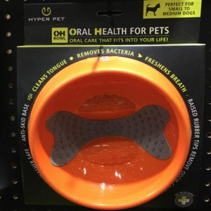 Oh Bowl Oral Health Dog Feeding Bowl Orange