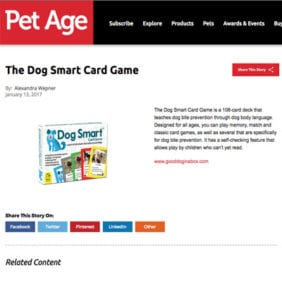 Pet Age Magazine - Dog Smart Card Game