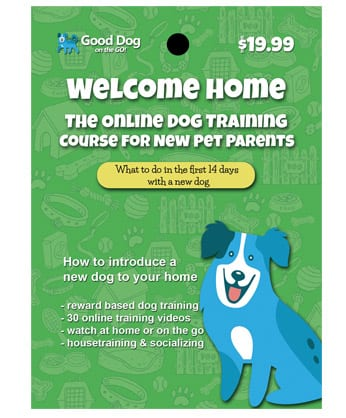 Welcome Home Online Dog Training