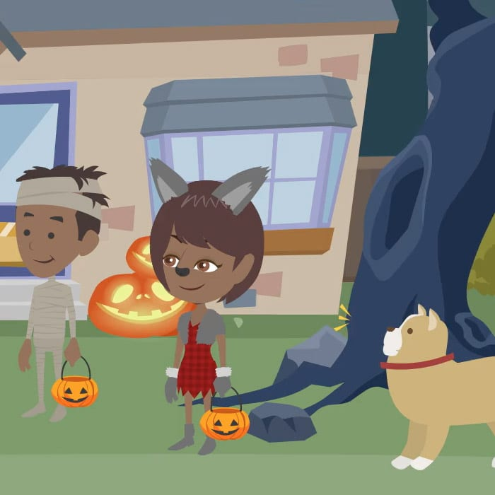 Halloween Safety with Kids and Dogs
